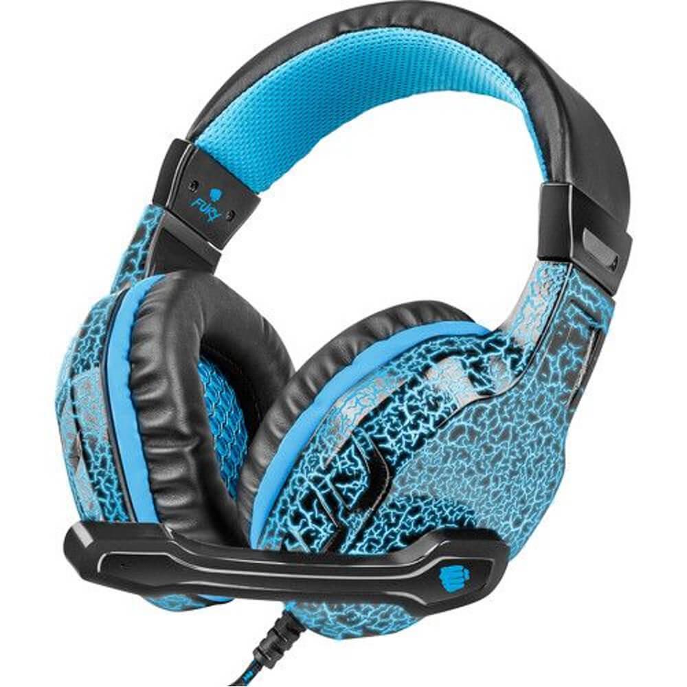 Casti Gaming cu microfon Fury Hellcat, Albastru