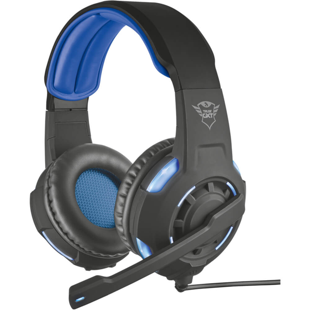Casti gaming cu microfon Trust Radius GXT 350 surround 7.1, Negru/Albastru