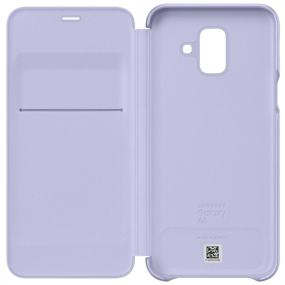 Husa Flip Wallet Samsung Pentru Galaxy A6 2018, Liliac