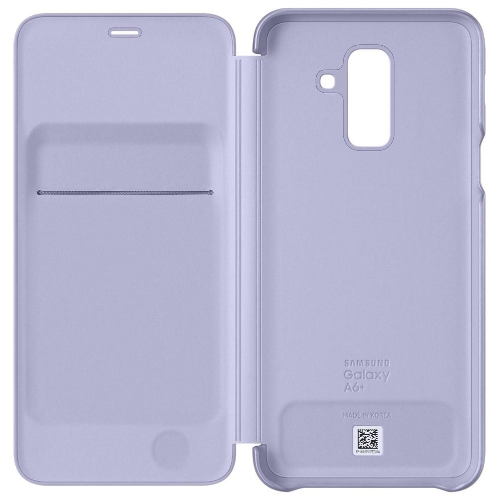 Husa Flip Wallet Samsung Pentru Galaxy A6 Plus 2018, Liliac