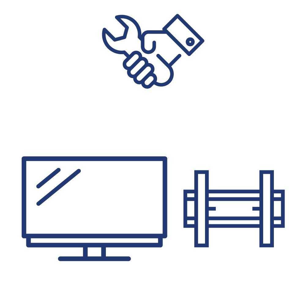 Serviciu Instalare TV pe Suport de Perete