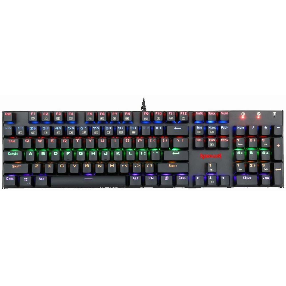 Tastatura gaming mecanica Redragon Rudra, Negru