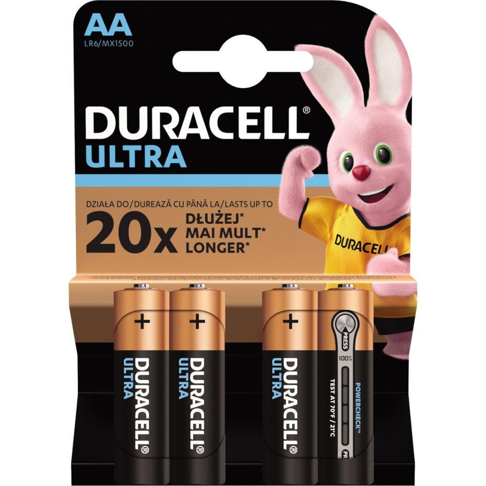 Baterii Duracell Ultra AA, 4 buc