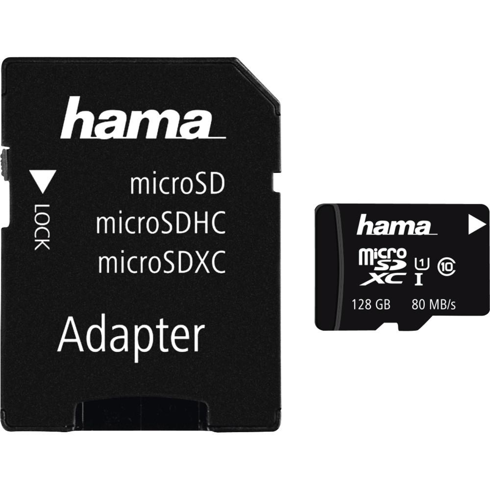 Card De Memorie Hama 124158, Microsdxc, 128gb, Clasa 10 + Adaptor