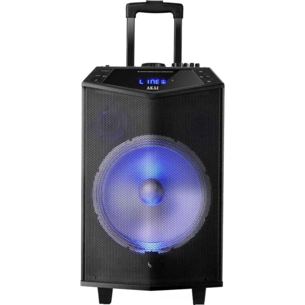 Boxa Portabila Troler Akai Abts-dk15, Bluetooth, Lumini Disco, Negru