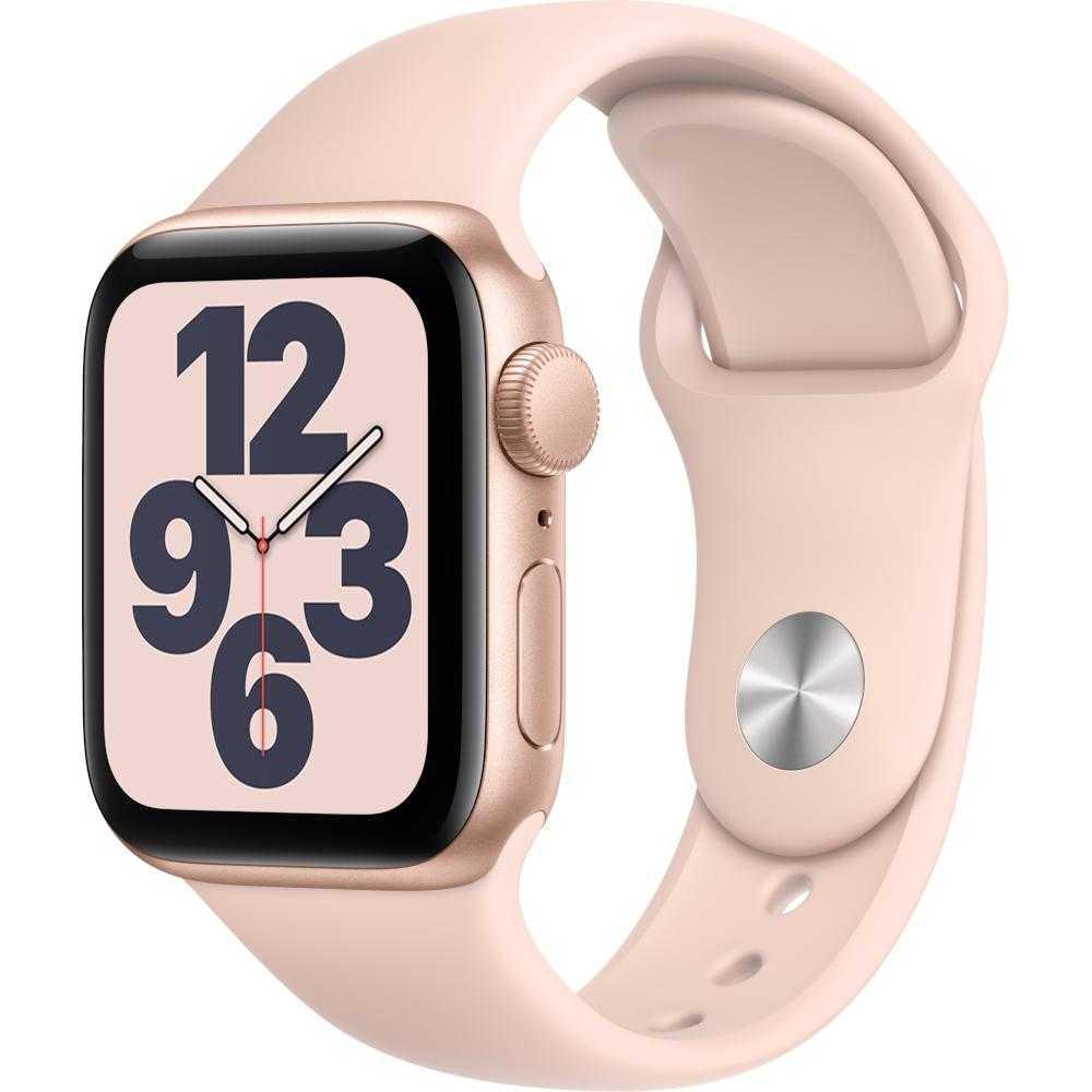 Apple Watch Series SE GPS, 40mm, Gold, Aluminium Case, Pink Sand Sport Band