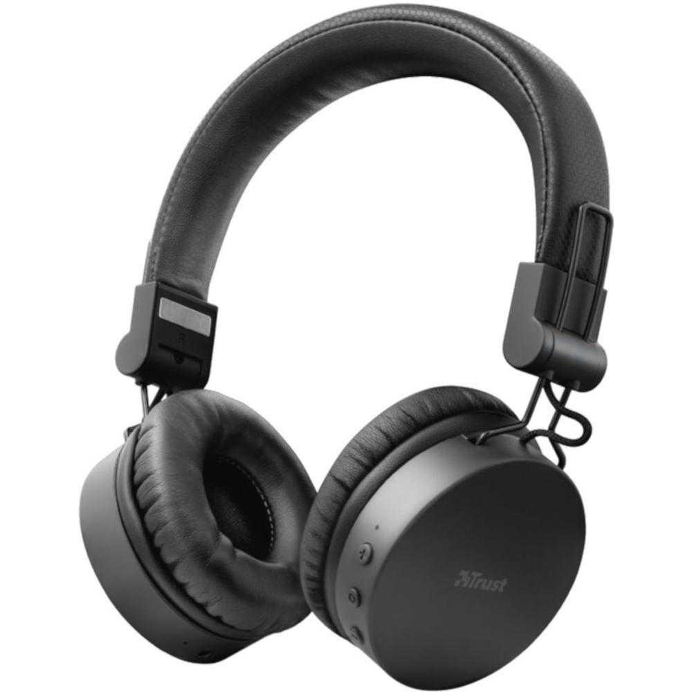 Casti Audio On-ear Trust Tones, Bluetooth, Negru
