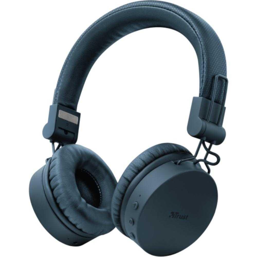 Casti Audio On-ear Trust Tones, Bluetooth, Albastru