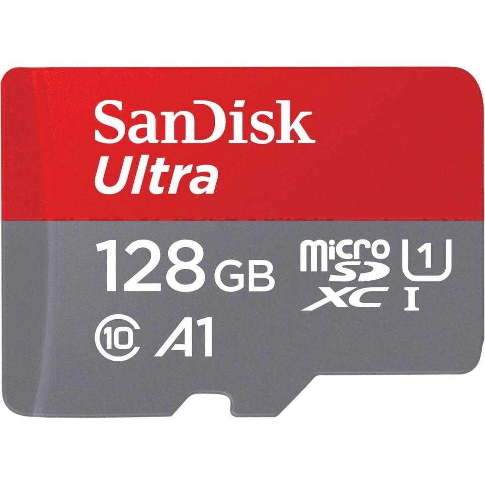 Card De Memorie Sandisk Ultra Microsdxc, 128gb, 120mb/s, A1 Class 10 Uhs-i + Sd Adapter