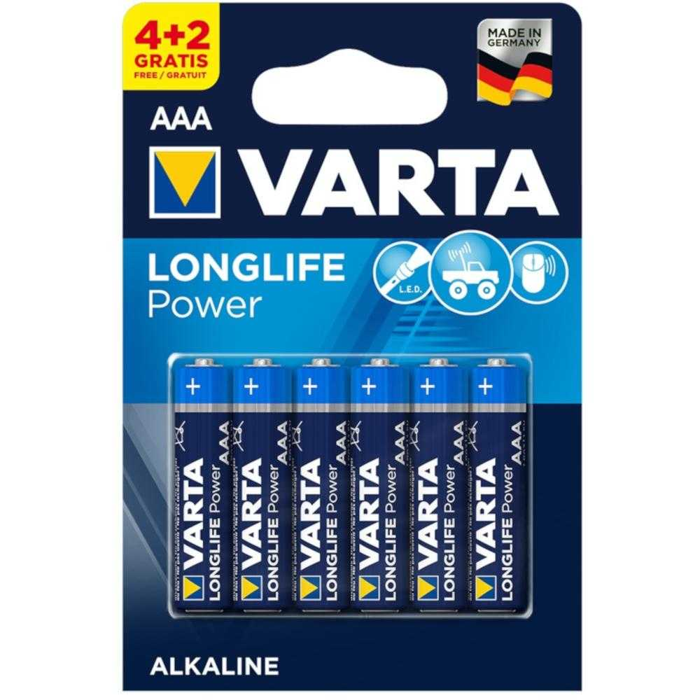 Baterii Varta Longlife Power AAA, 4+2 buc