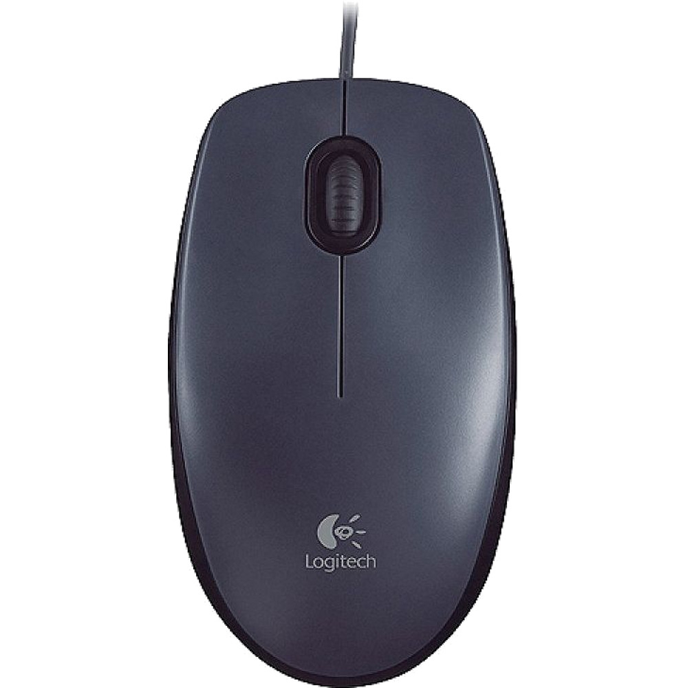 Mouse USB wired Logitech M90, Gri