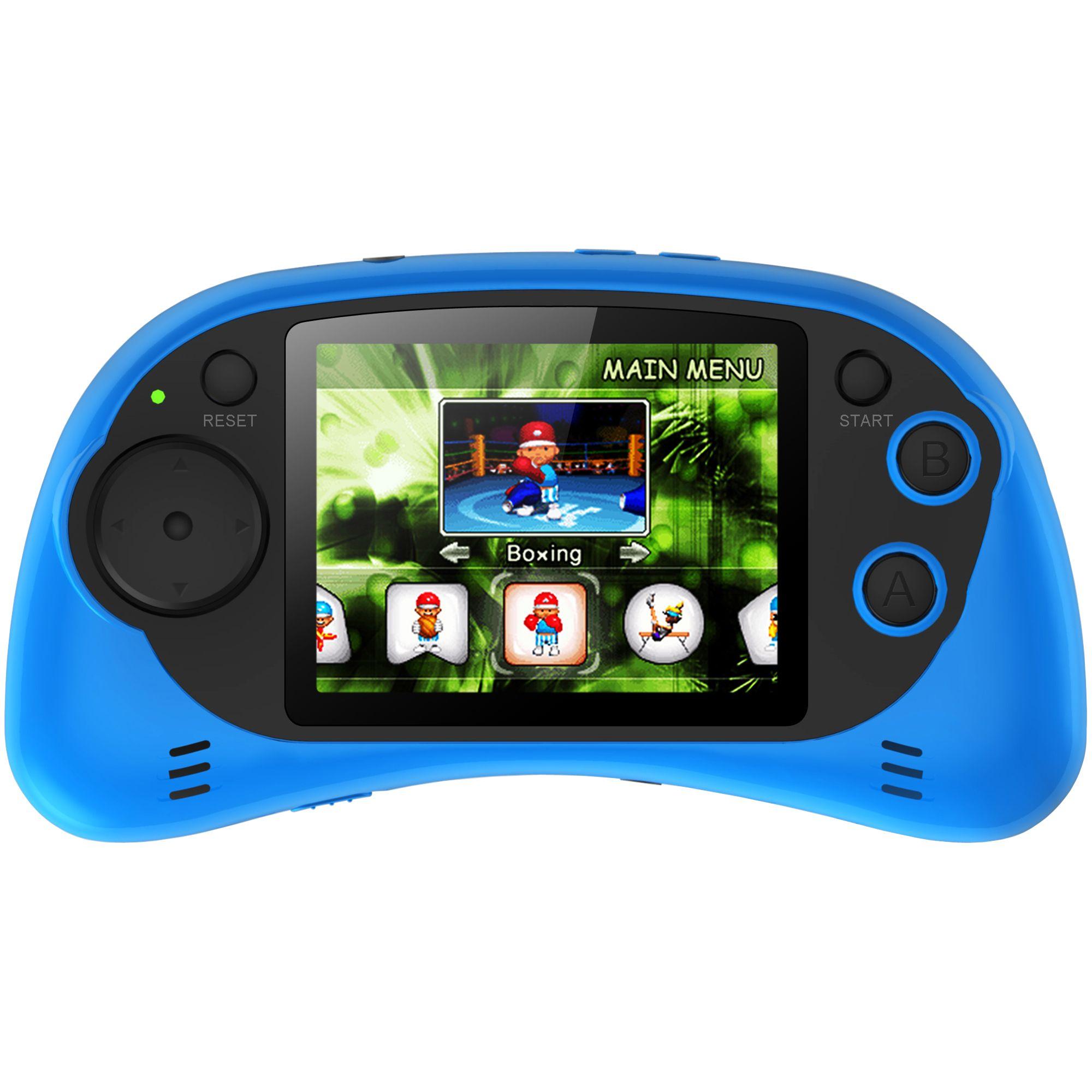 Consola portabila Serioux, 200 jocuri incluse, Albastru