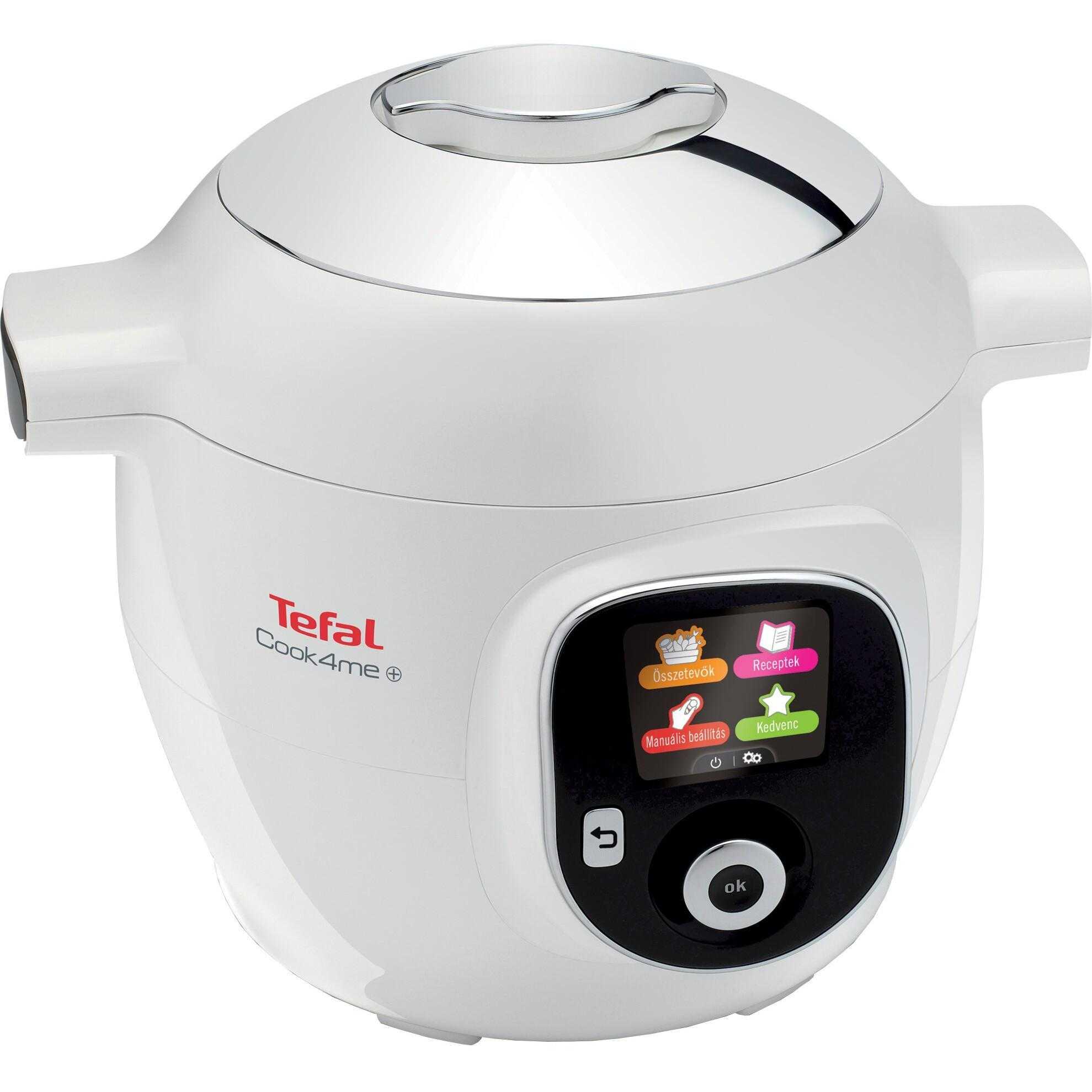 Multicooker inteligent Tefal Cook4Me+ CY851130, 1600 W, 6 l, 150 retete, 6 moduri de gatit, Alb