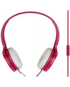 Casti audio On-Ear Panasonic RP-HF100ME-P, Microfon, Roz_1