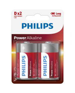 Baterii Philips Power Alkaline LR20P2B/10, D, 2 buc_001