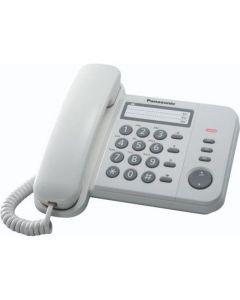 Telefon fix cu fir Panasonic KX-TS520FXW, Alb_1