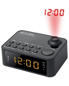 Radio cu ceas cu proiectie Muse M-178 P, Dual Alarm, LED, AUX, Negru