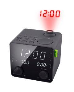 Radio cu ceas cu proiectie Muse M-189 P, Dual Alarm, LED, AUX, Negru