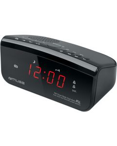 Radio cu ceas Muse M-12 CR, Dual Alarm, LED, Negru_1