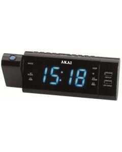 Ceas cu radio cu proiectie Akai ACR-3888, Alarma, Negru