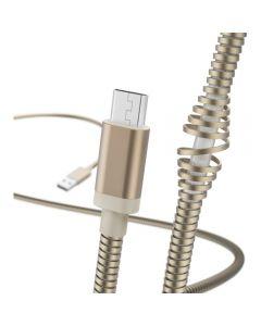 Cablu de date Hama Metal 183334, MicroUSB, 1.5, Auriu_1