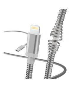 Cablu de date Hama Metal 183340, Lightning, 1.5, Argintiu_1