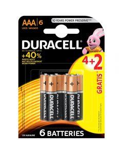 Baterii Duracell Basic AAA, 4+2 buc
