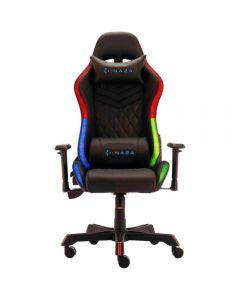 Scaun gaming Inaza Rainbow, iluminare RGB, Negru_1