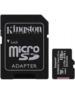 Card de memorie Kingston MicroSD, Canvas Select Plus, 128GB, Class 10, Adaptor