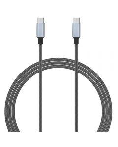 Cablu de date Lemontti LEMCTYPECGR, Type C, 1.5m, Argintiu_