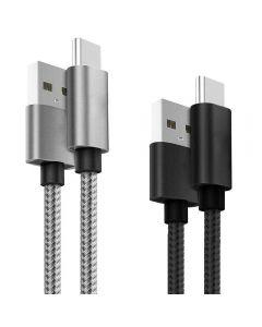 Set Cabluri de date Lemontti LSETCTYPC2, Type C, Argintiu/Negru