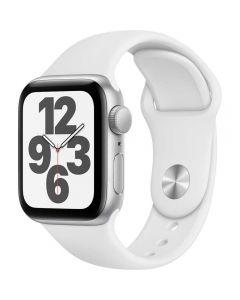 Apple Watch Series SE GPS + Cellular, 40mm, Silver, Aluminium Case, White Sport Band_1