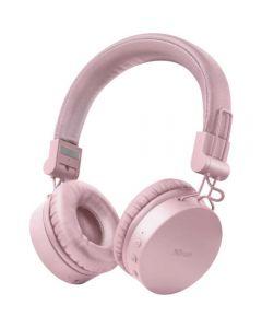 Casti audio On-Ear Trust Tones, Bluetooth, Roz