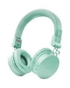 Casti audio On-Ear Trust Tones, Bluetooth, Turcoaz