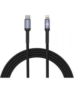 Cablu de date Tellur TLL155384, Type C, Lightning, 1m, Negru_1