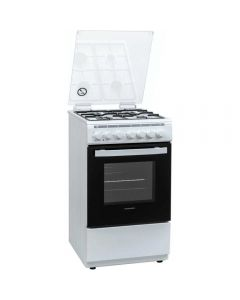 Aragaz mixt Heinner HFSC-V60LITGC-WH, Cuptor electric, Grill, 4 arzatoare_1