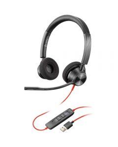 Casti Call Center Plantronics Blackwire 3320 USB, Negru