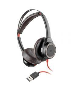 Casti Call Center Plantronics Blackwire 7225 USB, Negru