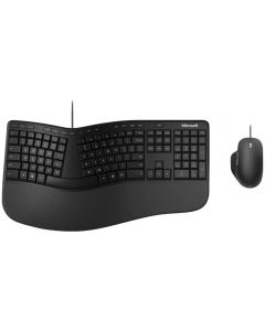 Kit Tastatura + Mouse Microsoft Desktop Ergonomic, Negru_1