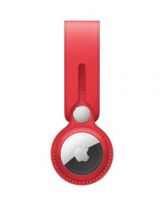Apple AirTag Leather Loop, (PRODUCT)RED