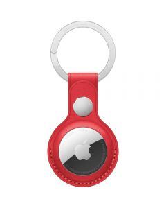Apple AirTag Leather Key Ring, (PRODUCT)RED