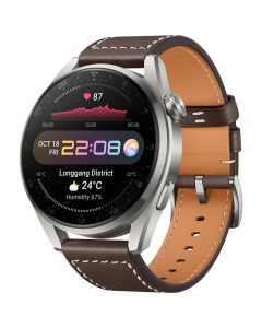 Huawei Watch 3 Pro Brown Leather_1