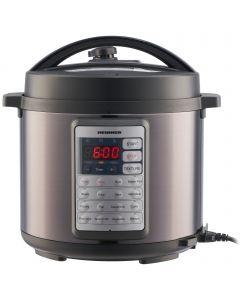 Multicooker cu gatire sub presiune Heinner Alacarte HPCK-38BK, 5.7 l, 14 programe, Negru/Argintiu