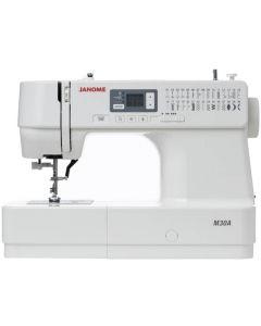 Masina de cusut digitala JANOME M30A, 30 Programe, 820 Imp/Min, 32 W, Alb