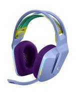 Casti gaming cu microfon Logitech G733, Wireless,, Lightsync RGB, Lilac_1