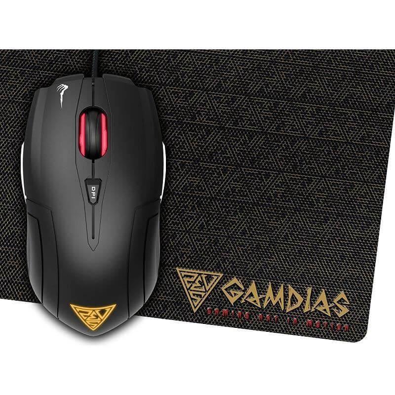 Kit mouse si mousepad gaming Gamdias Demeter E1, Negru
