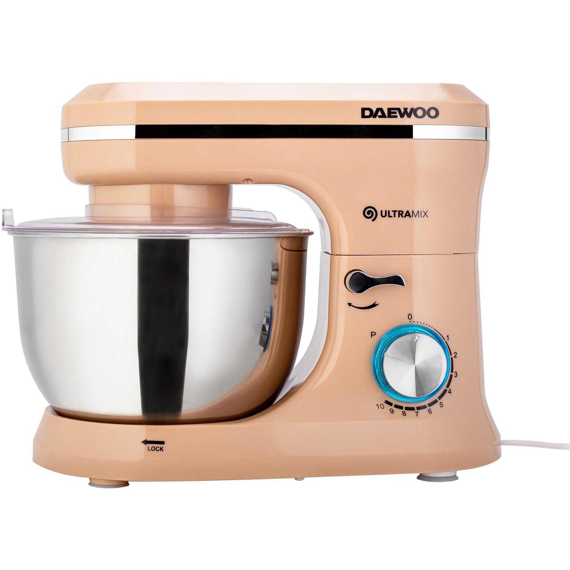 Mixer cu bol Daewoo DHM150R, 1600 W, 4.5 l, 10 viteze, Crem