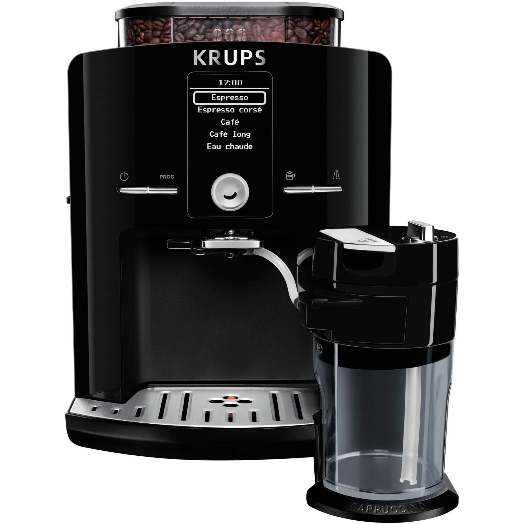 Espressor Automat Krups Ea829810, 1450 W, 1.7 L, 15 Bar, Negru