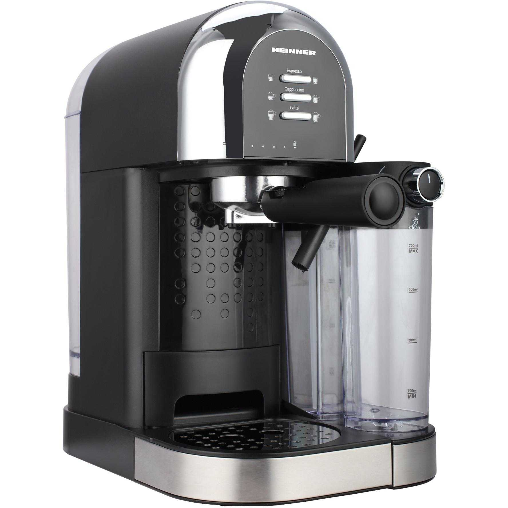 Espressor Manual Heinner Coffee Dreamer Hem-dl1470bk, 1470 W, 1.7 L, 20 Bar, Negru