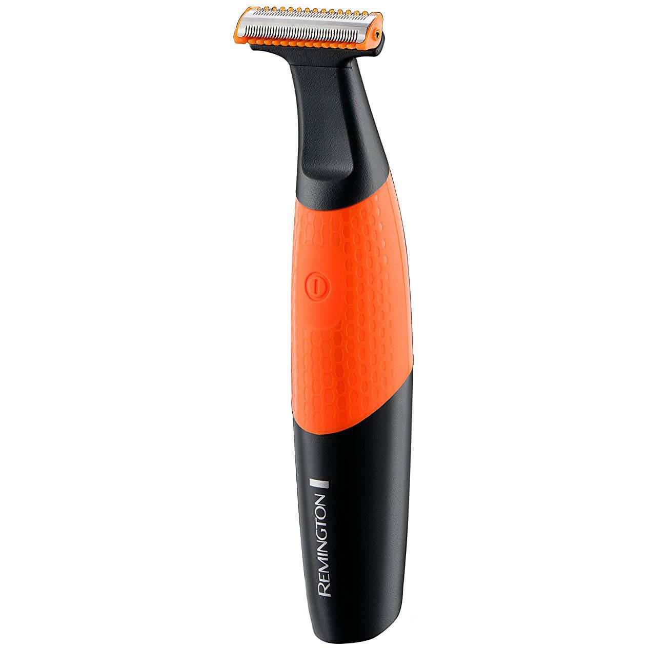 Aparat de ras si tuns barba Remington Durablade MB010, Acumulator, Cap barbierit cu o lama, Umed/Uscat, Portocaliu/Negru
